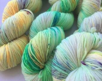 Hand painted merino sock yarn - Spring Garden