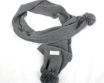 INKASSOUL UNISEX Alpaca SCARF,  w pompons ending - Andean Trends (free shipping)