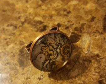 Steam punk style rings