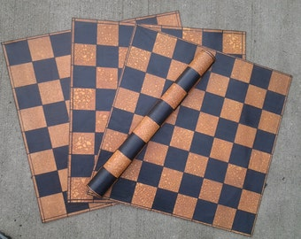 Roll-Up Premium Leather Chess Boards