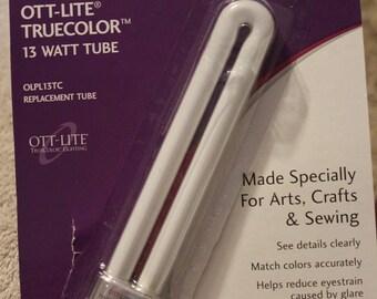 Free Shipping!  Ott-Lite True Color 13 Watt Tube - Model OLPL13TC - Replacement Tube - New in Package - SNSC