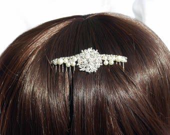 Wedding Hair comb, Pearl Bridal hair comb, Diamante and pearl hair comb, Brides Hair comb, bridal headpiece, bridesmaid wedding hair piece