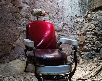 Eastern State Penitentiary - How About A Haircut? - Photography - Fine Art - 8x12 Print matted to 11x14 - historic ruins Philadelphia