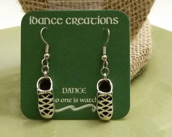 Irish Dance Ghillie Soft Shoe Earrings