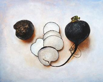 Black Radishes (one sliced, one whole)