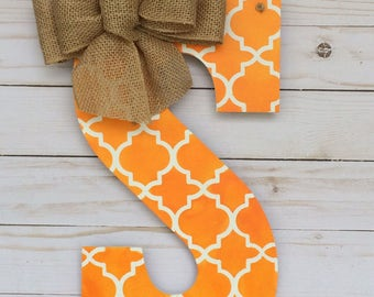Monogram Door Hanger - Intial Door Hanger - Spring Door Hanger Monogram  - Door Hanger - Door Decoration  - Monogram Door Decor - Room Decor