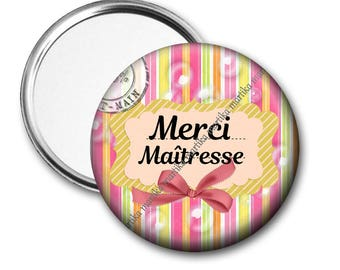 Mirror 50 mm thank you mistress /cadeau