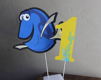 Finding Dory Centerpiece/1ST Birthday/Finding dory theme party