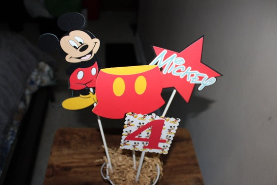 Mickey Mouse Centerpiece Mickey Mouse Cutouts Disney Theme