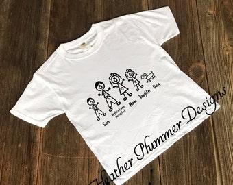 Funny Customizable Stick People Shirt, Stick People T-Shirt, Stick People T Shirt, Stick People Tee Shirt, Stick People Tee, Stick People