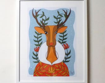 Reindeer, Limited edition art print