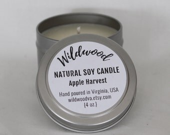 Apple Havest Natural Soy Candle // 4oz