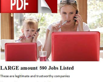 Working From Home Jobs,  REAL work at home jobs, Make Money Online, Employment at Home ( 590 JOBS Listed PLUS More)