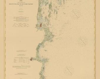 0521-Portland Harbor 1894- Nautical Chart by the U. S. Coast & Geodetic Survey