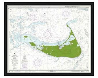 0350-Nantucket Island Chart 1971-Summer Green