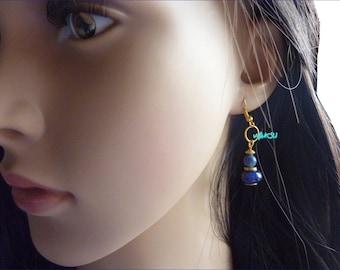 Lapis lazuli beaded earrings
