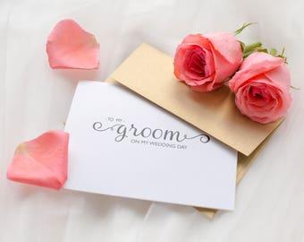 To My Groom On My Wedding Day Card, Groom Card, Groom Wedding Day Card, Wedding Day Cards, Wedding Stationery