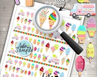 60%OFF - Ice Cream, Printable Planner Stickers, Food Sticker, Kawaii Sticker, Functional Sticker, Planner Accessories, Dessert