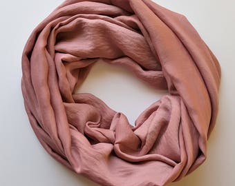 Mauve Infinity Scarf - Extra Long Scarf
