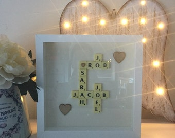 Scrabble picture frame choose your words any occasion