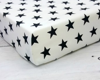 stars crib sheets, baby boy, fitted crib sheet, crib bedding, baby crib sheet, monochrome nursery, baby crib sheets, mini crib sheet, boy