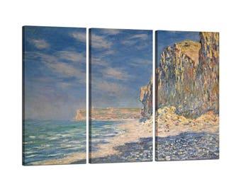 On canvas Claude Monet framed Falaise, near Fecamp
