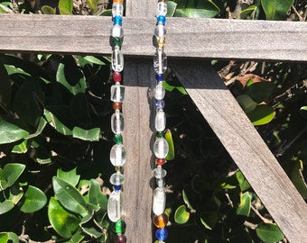 Car rear view mirror hanging cross. Car rearview mirror cross. Car cross. Auto. Car. Auto cross. Beautifully made with glass beads. Car hang