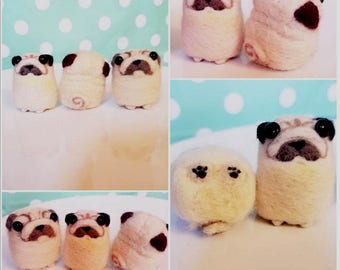 Felted Mini Pug