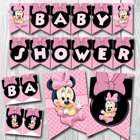 Baby MINNIE MOUSE Baby Shower Banner, Baby Minnie Mouse Banner, Baby Shower  Banner, Minnie Mouse Banner, PRINTABLE