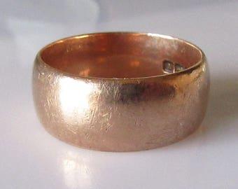 Edwardian Rose Gold Wedding Ring Band