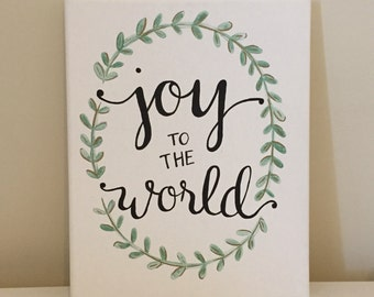 Joy to the World Quote Canvas 8x10 in.