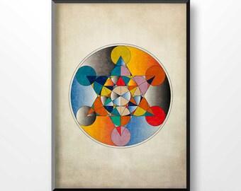 MANDALA print, mandala poster, Sacred Art Poster, Geometric Printables, Mandala Wall Art, Sacred Geometry Print, Flower of Life Print, 2049