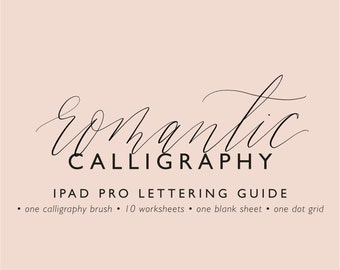 IPad Pro lettering guide romantic calligraphy