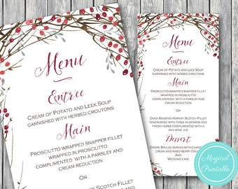 free editable christmas menu templates