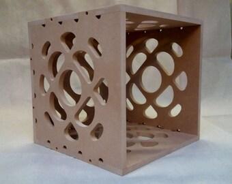 "12"" Vinyl Record Storage Box Cube - Bubble Design - Stackable"