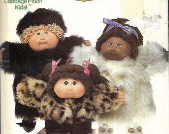 Butterick 6984 Original Cabbage Patch Kids Clothes Pattern, coats and hat, 1985