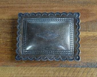 Vintage Navajo Sterling Silver Belt Buckle
