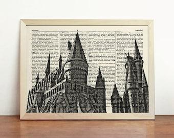 hogwarts castle | etsy