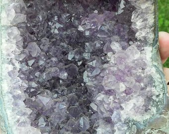 Lavender Amethyst Geode Weighs 1 pound 11 ounces