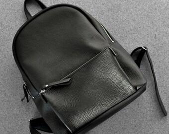 Black leather backpack - Pilot