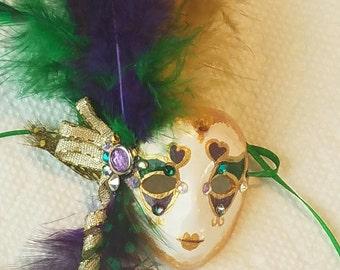 Doll Mardi Gras mask