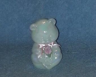Fenton Glass Teddy Bear - Art Glass Figurine