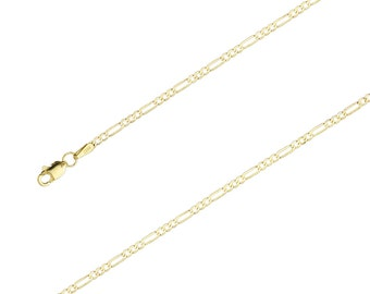 "14K Yellow Gold Figaro Chain Necklace, 1.9mm, 16""-24"", with Lobster Clasp"