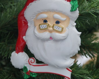 Personalised Christmas decoration, Jolly Santa decoration, family decoration