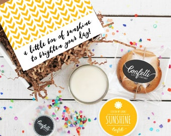 Mini Box of Sunshine - Get Well Gift | Thank You Gift | Friend Gift | Send a Gift | Thinking of You Gift | Sunshine Candle