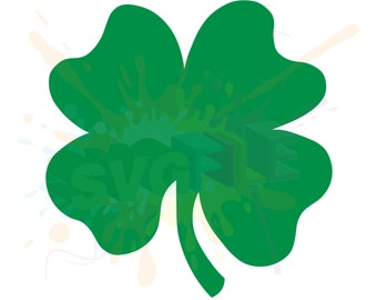 Shamrock SVG Files for Cutting Four Leaf Clover Cricut - SVG Files for Silhouette - Instant Download