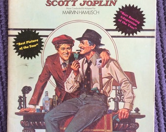 1974 The Sting featuring the music of Scott Joplin, vintage music book