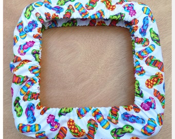 Flip Flop Fun QSnap Grime Guard Cover for Cross Stitch and Needlework - Many size options available