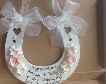Personalised Wedding Horseshoe Gift Keepsake