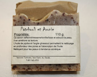 SOAP Patchouli and Aronia, handmade SOAP is 100% natural, Cold process Natural Handmade Soap, natural Patchouli, product, SOAP